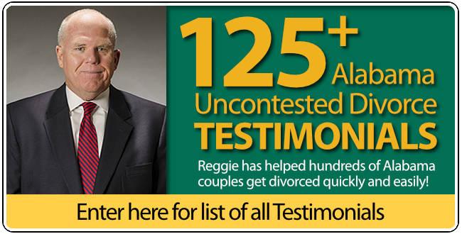 Testimonials for Reggie Smith Huntsville Alabama Uncontested Divorce Lawyer